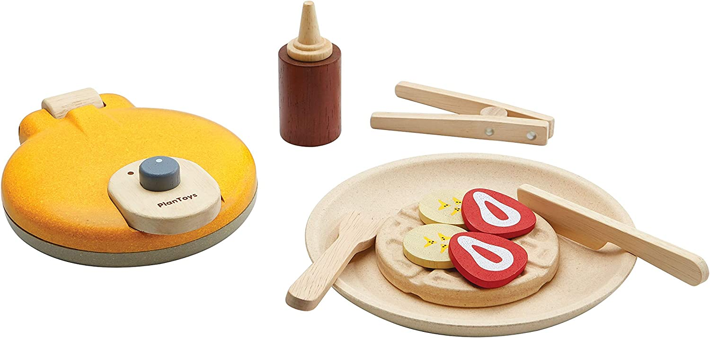 PlanToys Wooden Waffle Breakfast Playset Selling and selling Indefinitely 3615 Ma Sustainably