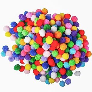 700 peças de pompons sortidos de 2,54 cm multicoloridos para artesanato e artesanato, bolas de pompons para suprimentos de...