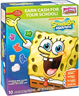 Spongebob Squarepants Fruit Flavored Snacks 8 oz (Pack of 10)