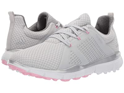adidas Golf Climacool Cage (Grey One/Silver Metallic/True Pink) Women