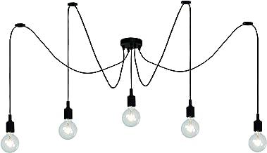 Lucide FIX MULTIPLE - Hanglamp - 5xE27 - Zwart, 400 x 400 x 200 cm
