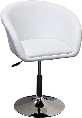 Best Master Furniture Adjustable Swivel Barrel Chair White