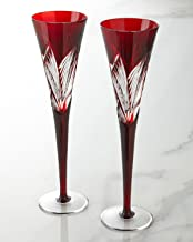 Waterford Crystal Times Square 2014 Red Flutes, Pair