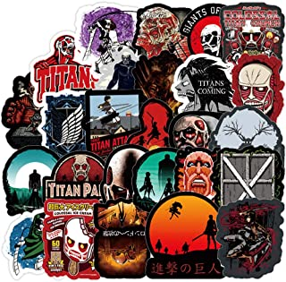100 Pcs Stickers for Attack On Titan,Aesthetic Stickers for Water Bottle Laptop Skateboard Luggage Flask Computer Car Phone,Cool Anime Trendy Vinly Waterproof Stickers for Teens Boys Kids Girls.