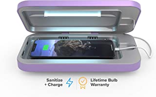 PhoneSoap 3 UV Smartphone Sanitizer & Universal Charger | Patented & Clinically Proven UV Light Disinfector | (Lilac)