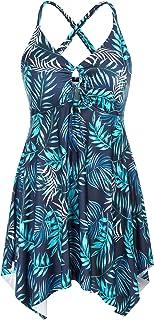 Hanna Nikole Two Piece Tankini Swimsuits for Women Plus Size Swimdress with Boyshorts