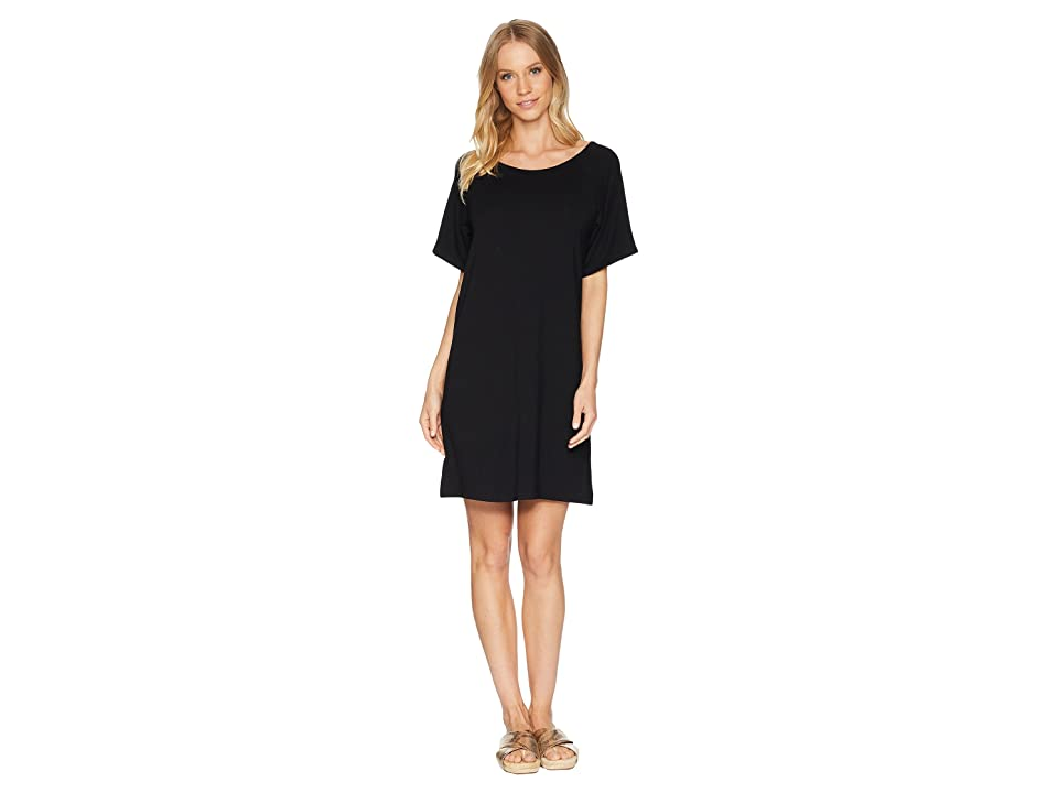 BB Dakota Shae Keyhole Back Knit Dress (Black) Women
