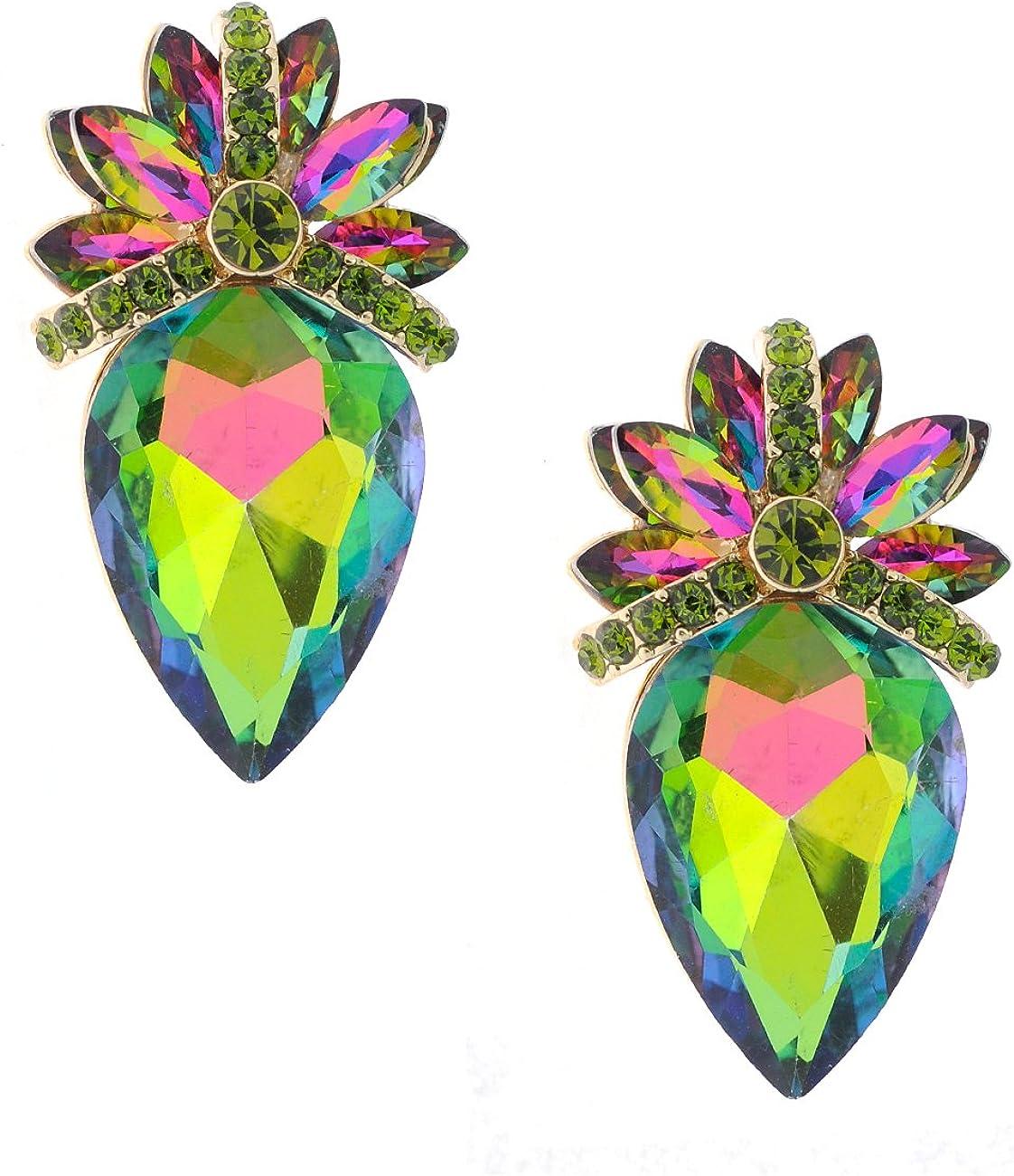 Whole Strawberry Stone Shape Clip On Fashion Earrings