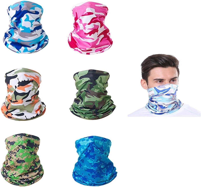 N/ WeiMeii 6 pcs Magic Headband for Women, Multifunctional Neck Gaiter Bandana, Neck Gaiter Fantastic Zone,Camouflage Balaclava Wind Protection, Fishing, Hiking, Running, Cycling