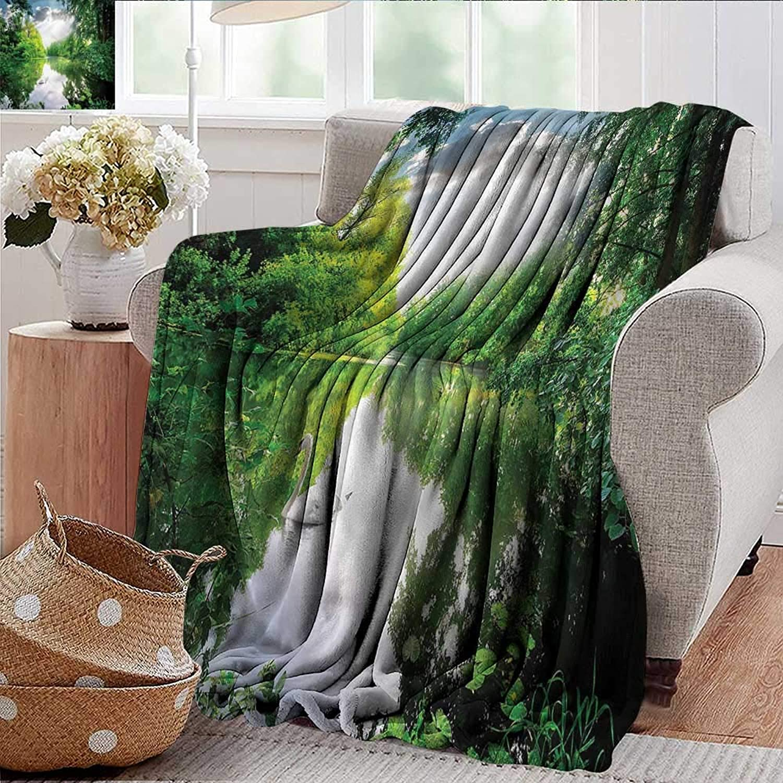 Xaviera Doherty Summer Blanket Swan,Hidden Calm Nature Forest Lake Weighted Blanket for Adults Kids, Better Deeper Sleep 35 x60
