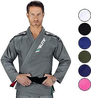 Elite Sports IBJJF Ultra Light Brazilian Jiu Jitsu BJJ Gi W/Preshrunk Fabric & Free Belt
