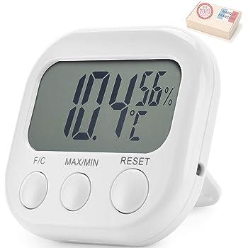 TAKIT Termometro Digital Y Higrómetro Para Interiores - GARANTÍA DE 5 AÑOS - Alta Precisión - Indicador Digital De Temperatura Y Humedad