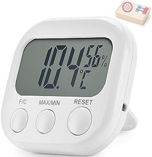 Takit Thermomètre Interieur Hygromètre - Garantie 5 Ans - Haute Précision - Indicateur De Température Et D'humidité Numérique