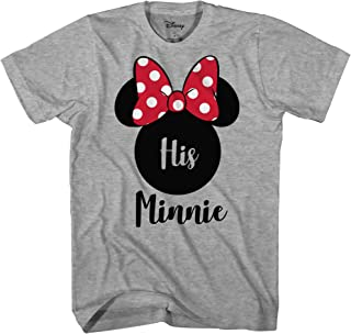 Disney His Minnie Her Mickey Couples Valentines Adult Funny Disneyland Graphic T-Shirt