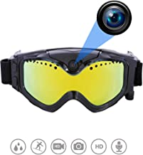 $148 » OHO 32GB Ultra HD Action Camera Ski Goggles with 140 Degree Built-in Camera, Anti Fog and UV400 Protection Ski Lens for Men Women Adult (THB029 Model)