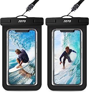 JOTO 2 uds. Bolsa Estanca Móvil Universal, IPX8 Funda Impermeable para iPhone 11 Pro MAX/XS/XR/X/8, Galaxy Note10+/S20 Ultra/S20+/S10e, Huawei Xiaomi BQ hasta 6,9