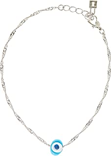 Alwan Silver Plated Medium Size Anklet for Women - EE3821SS