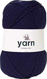 Korbond 100g Navy Double-Knit Acrylic (Available in 27 Colours) -Lightweight, Hypoallergenic & Durable Yarn – Ideal for Ju...