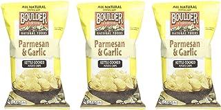 BOULDER CANYON | Kettle Chips | Parmesan Garlic | Gluten Free [ 3 Pack ]