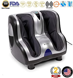 VITALZEN® Foot and Leg Massager (2019 New Model) - Massage Systems: vibrotherapy, accupressure, Reflexology, Percussion, and Compression/air - 3 Intensity Levels – 2 Years Warranty GLOBAL RELAX® US