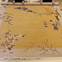 YILONG CARPET 8'x11' Oriental Art Deco Chinese Wool Carpet Handmade Floral Design Living Room Dining Room Rug