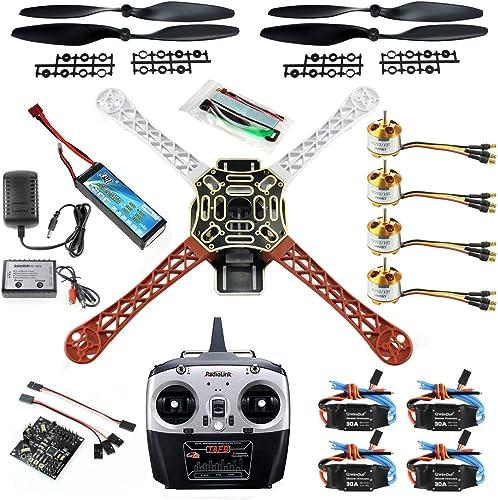 Qwinout Selbstbau 8CH KK V2.3 F450 Rahmen RC-Quadkopter 4-Achs UFO Demontage-Kit RTF ARF Basis-Drohne