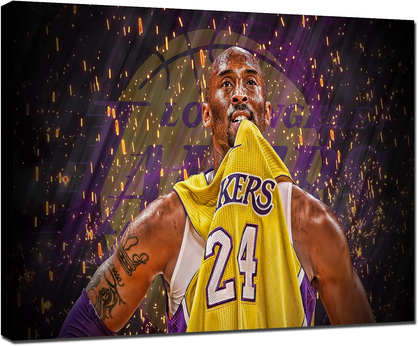 TWO J Canvas Wall Art Kobe LA Posters Bryant Lakers Legends Bask All items Rare free shipping