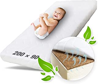 Ehrenkind Kindermatratze Kokos   Baby Matratze 90x200   Babymatratze 90x200 mit hochwertigem Schaum, Kokosplatte und Hygienebezug
