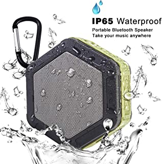iMacros Portable Bluetooth Speaker,Outdoor Waterproof Speakers,Wireless Mini Speaker for iPhone,Android,Stereo Sound,Rich Bass,Built-in Mic,TF/SD Card