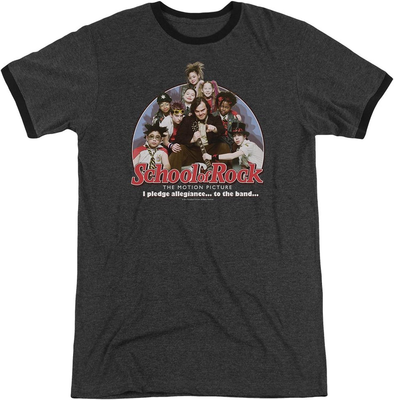 School Of Rock - Mens I Pledge Allegiance Ringer T-Shirt