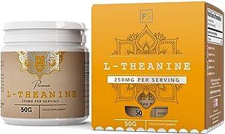 FS L Teanina en Polvo Puro Vegano [50g], Nootropico Calmante Natural Para la Concentracion y Memoria | Mejora el Estado de Ánimo y el Flujo Sanguíneo Cerebral | Sin OGM, Gluten o Lácteos