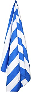 Tutti. Microfiber Beach Towel-Large [63x31.5in] Quick Dry, Sand Free, Compact, Super Lightweight-Extra Absorbent, Suede, Very Soft, Perfect for Travel (Blue)
