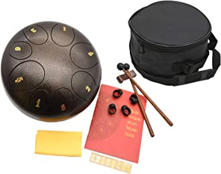 Steel Tongue Drum, 8 Notes 8 Inches Standard C Key Tank...