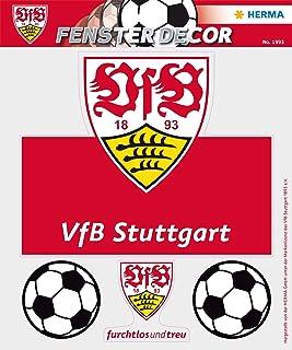 HERMA 1993etiqueta ventana imágenes sin pegamento, Fútbol Bundesliga Escudo del VfB Stuttgart, diseño Pecho Anillo visibl...