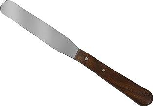 Spatola Dritta per Cera a Caldo - Acciaio Inox con Manico in legno - COD. 38977 - EPILTECH
