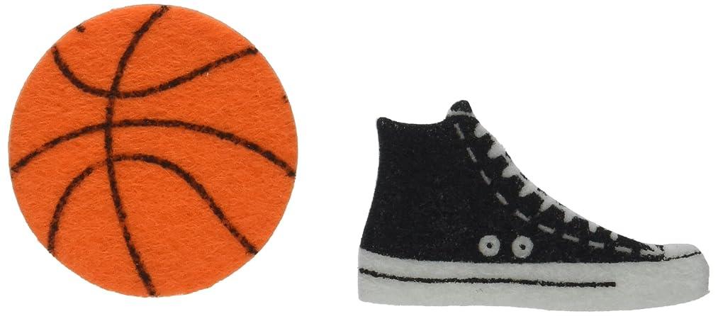 Darice FLT-1019 Felties Felt Stickers - Basketball - 52Piece Basketball Stickers