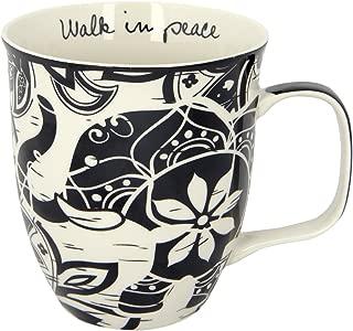 Karma Gifts Black And White Mug, Elephant
