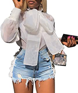 organza bow blouse