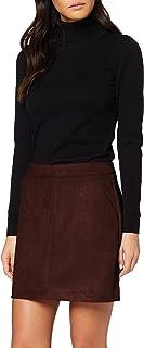 Vero Moda Vmdonnadina Faux Suede Short Skirt Col Falda para Mujer