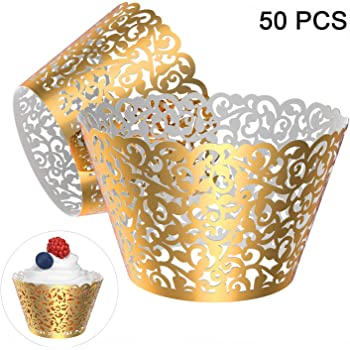 100 pcs 100pcs Cupcake Wrappers Cupcake Cases Cupcake Holders Muffin Cups for Wedding Baby Shower Party Pink /…