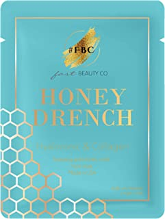 Fast Beauty Co. Honey Drench 1 Hydrating Honey Comb patterned Mask With Hyaluronic & Collagen