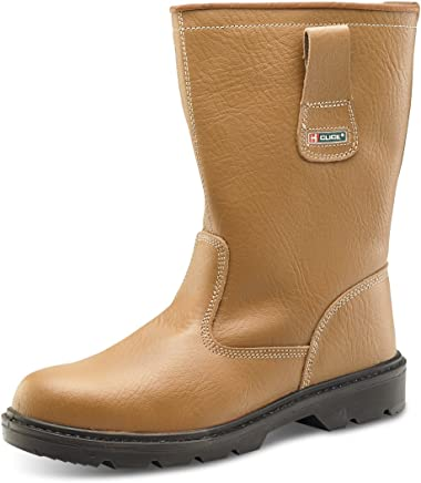 B-Click Footwear Fur Lined Rigger Safety Boots : boots