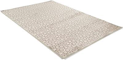 benuta Modern Rug for Living Room and Bedroom 4053894724183, Viscose, Grey, 115 x 170 x 0.02 cm