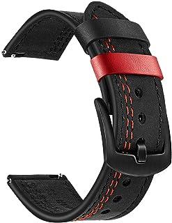 TRUMiRR Vervanging voor Garmin Vivoactive 3/Garmin Venu armband, 20 mm dubbele kleur echt lederen armband horlogeband voor...