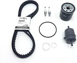 Service Kit for Ducati 749/999: Timing Belts, OEM Ducati Fuel Pump Filter, Athena Oil Filter, NGK Spark Plugs & VITON O-Ring