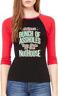 VISHTEA Jolliest Bunch of A-Holes T-Shirt Holiday Xmas Ugly Sweater Nuthouse Shirts