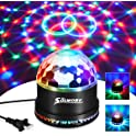 SOLMORE Disco Ball Sound Activated DJ Light 7 Colors LED Party Lights