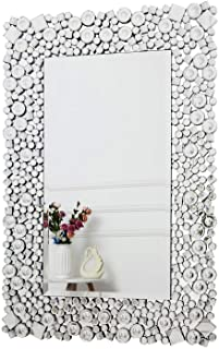 RICHTOP Espejo de Pared - Rectangular Crystal Jewel Mosaic Espejo montado en la Pared para Sala de Estar Dormitorio toca...