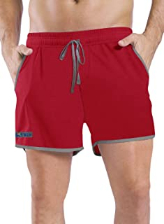 HISKYWIN Men's Running Shorts with Pockets Quick Dry Breathable Active Gym Mesh Shorts for Workout Training Jogging