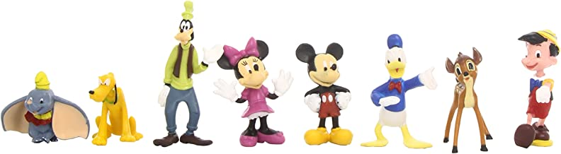 Beverly Hills Teddy Bear Company Disney Classic Characters Toy Figure Playset, 8-Piece
